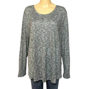 NWT Style & Co XXL Gray Long Sleeve Top Tee Plus